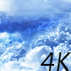 Flying Through Abstract White and Blue Clouds - VideoHive Item for Sale