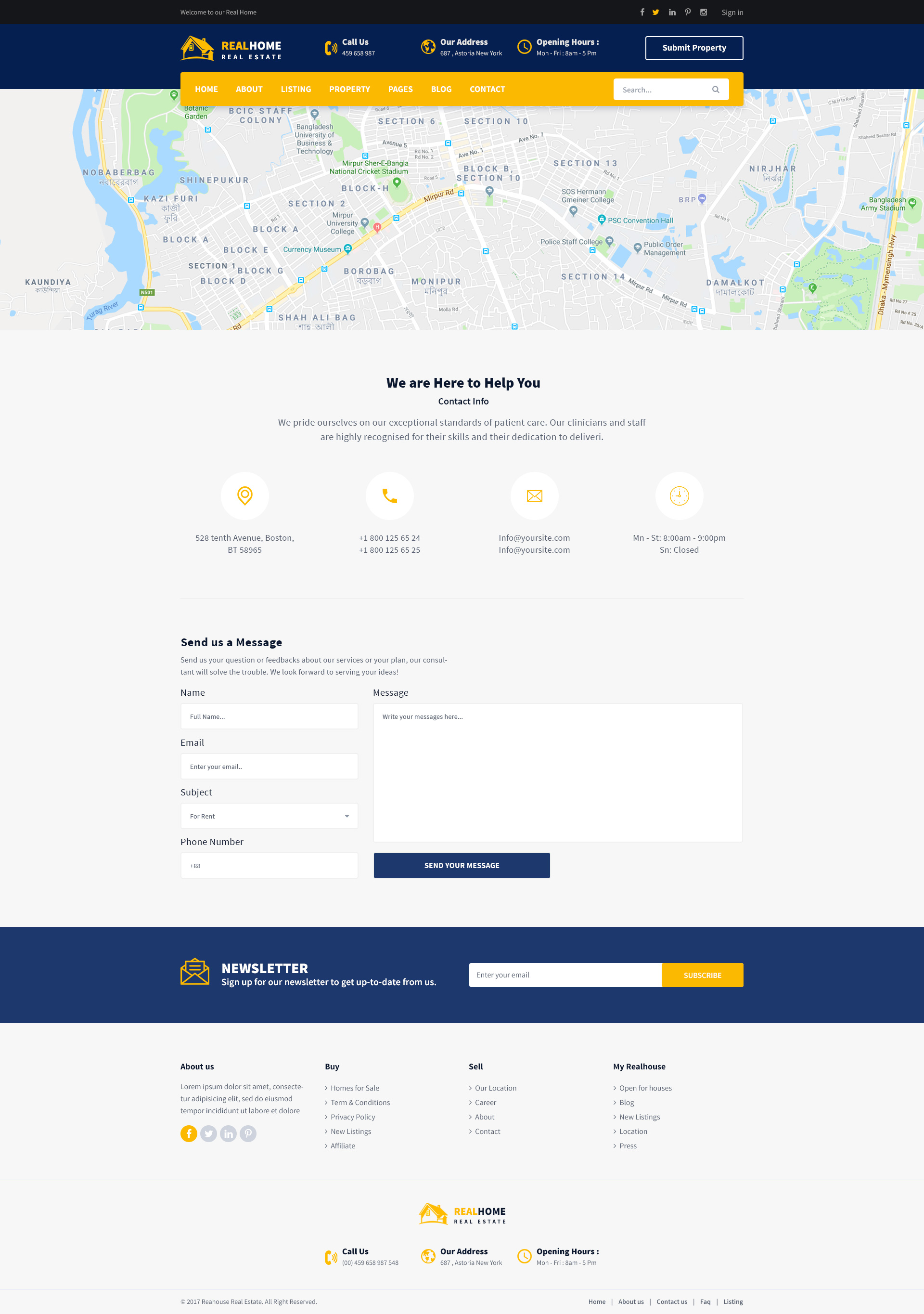 RealHome Real Estate Business PSD Template By Themevenus - Map policy template