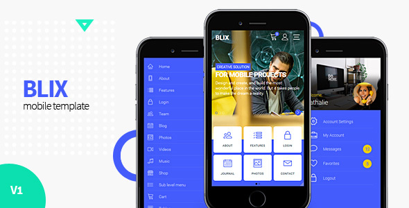 Image of Blix - Mobile HTML Template