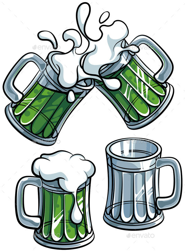Set of Beer Glasses - Objects Vectors