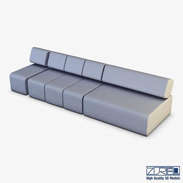 Atollo Sofa v 1 - 3DOcean Item for Sale