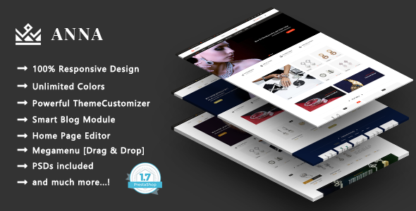 Image of Anna - Handcrafted Jewelry Responsive Prestashop 1.7 Theme