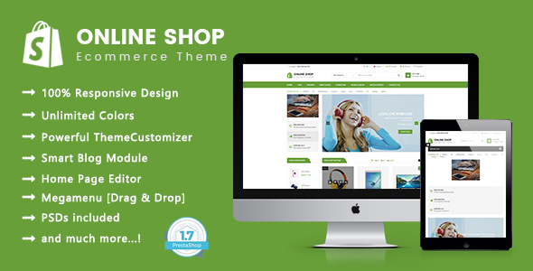 Image of Online Shop - Digital, Electronics Responsive Prestashop 1.7 Theme