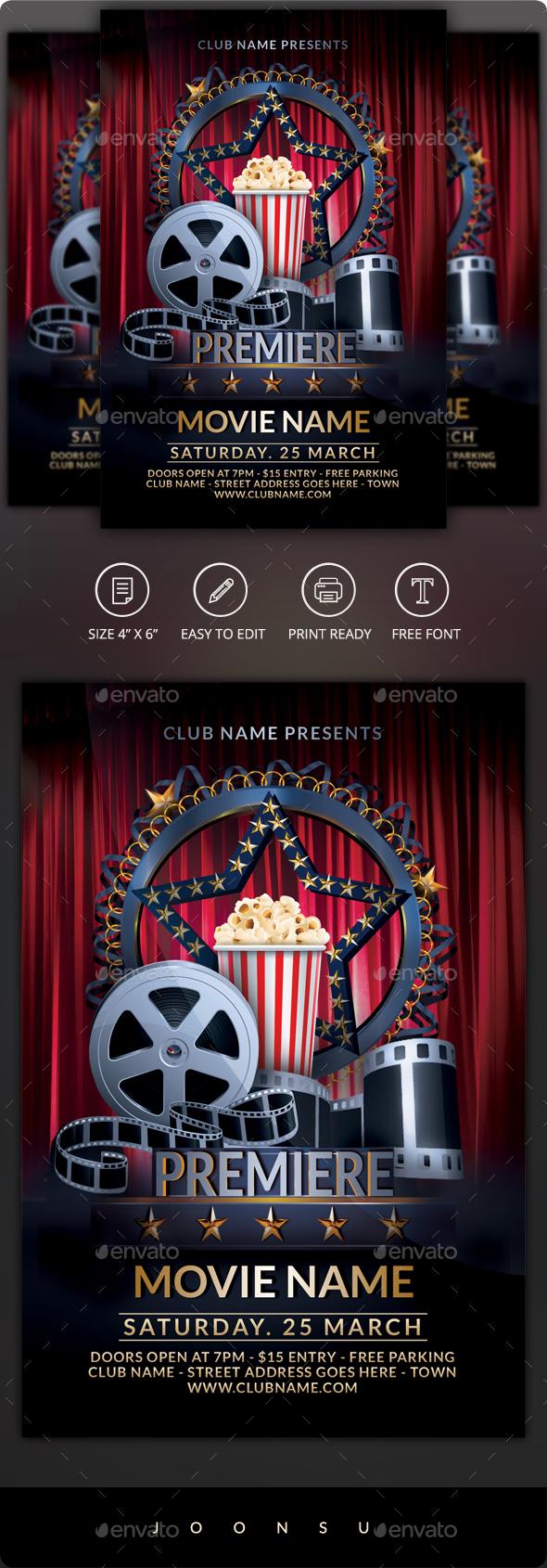 Premiere Movie Flyer - Clubs & Parties Events