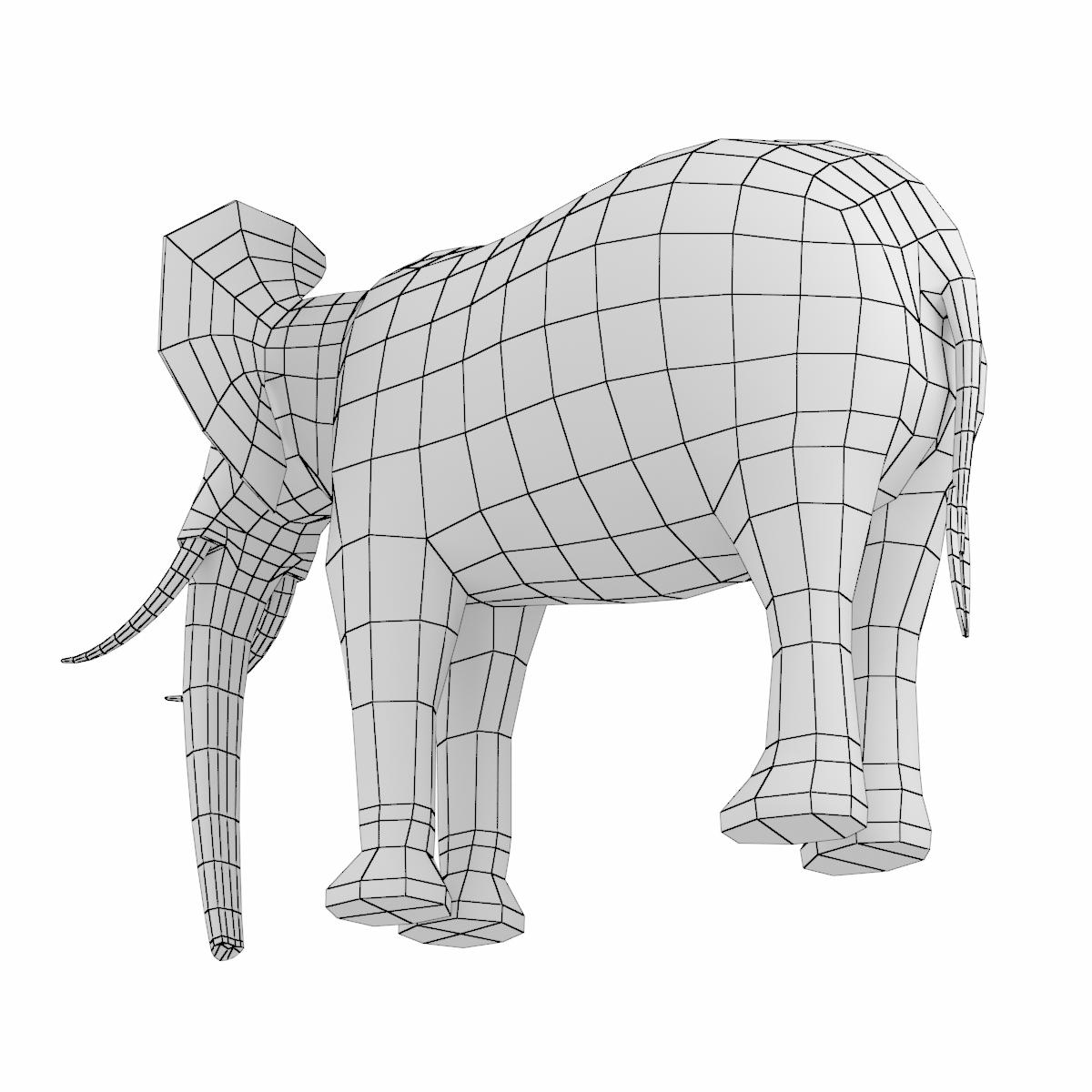 African Bush Elephant Male Animal By Vk Studio 3docean