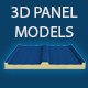 GeyiG 3D Real Wall Panel and Mounting Accessories. - 3DOcean Item for Sale
