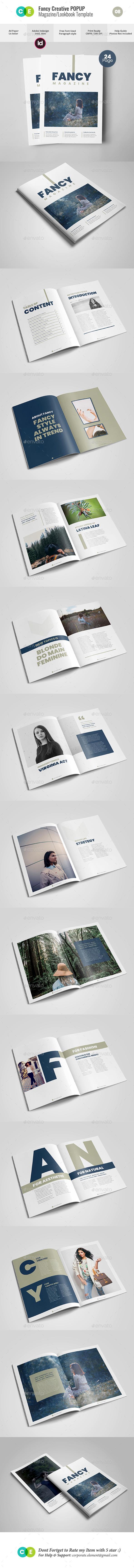 FANCY Fashion Minimal Magazine / Lookbook V08 - Magazines Print Templates