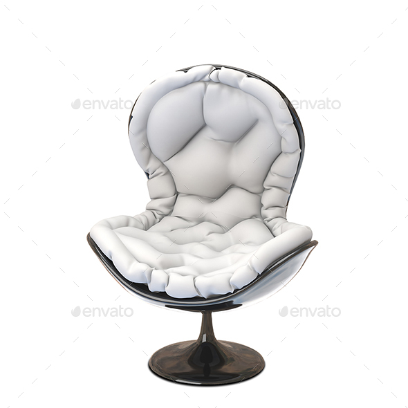 3D Illustration Soft Armchair - Objects 3D Renders