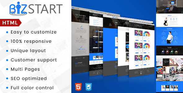 Image of Bizstart Business Corporate HTML Template
