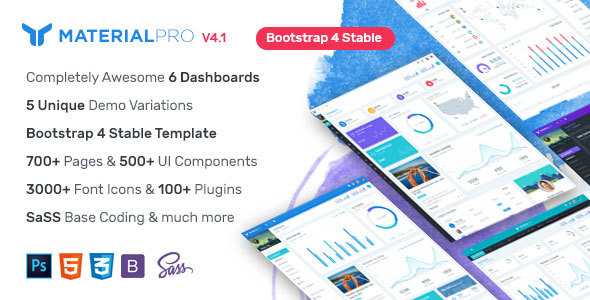 MaterialPro - Material Design Bootstrap 4 Admin Template - Admin Templates Site Templates