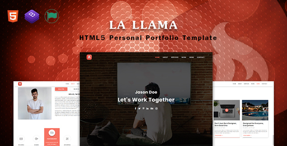 La LLama - Personal Portfolio Template - Virtual Business Card Personal