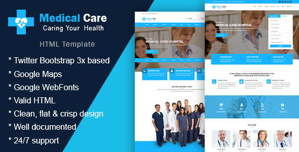 Image of Medical Care - Health & Medical HTML Template