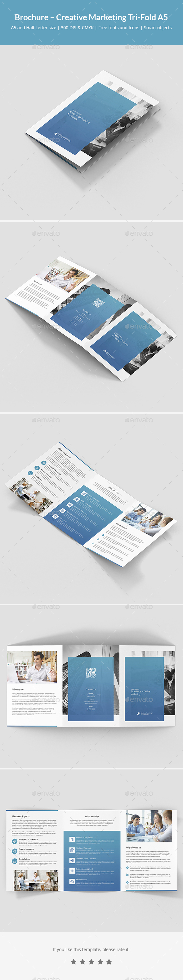 Brochure – Creative Marketing Tri-Fold A5 - Corporate Brochures