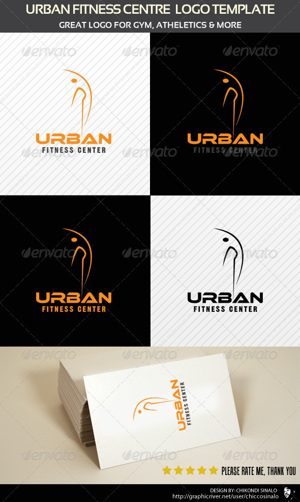 Urban Fitness Centre Logo Template  - Abstract Logo Templates