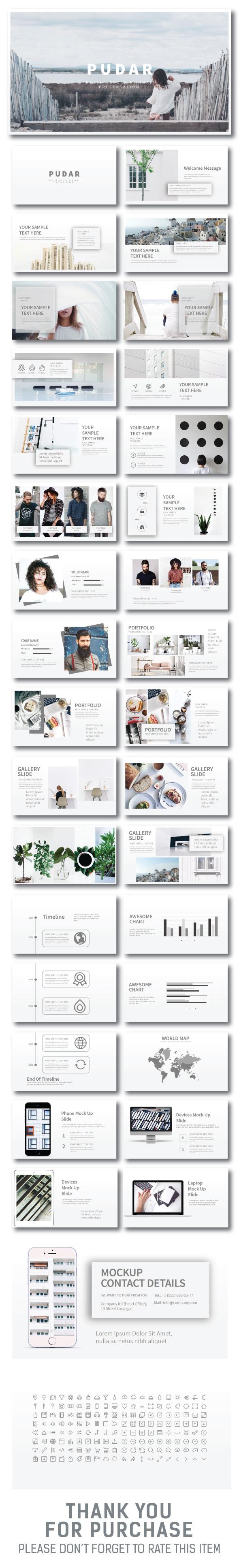 Pudar Minimal Presentation - Creative PowerPoint Templates