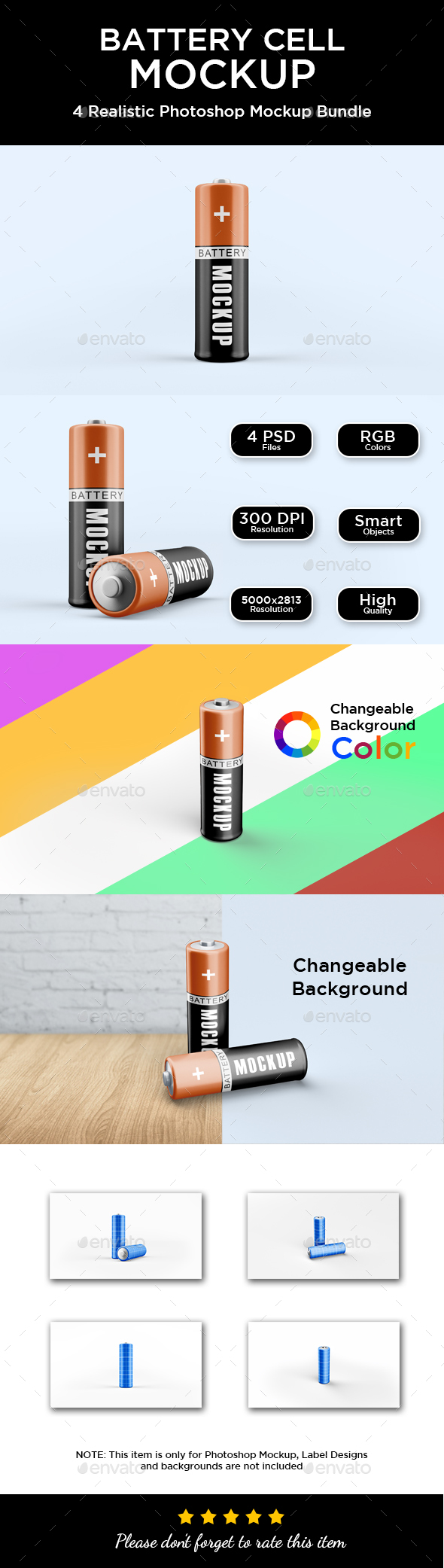 Battery Cell Mockup - Miscellaneous Packaging