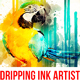 Dripping Ink Artist Painting Photoshop Action