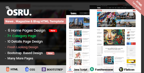 Image of OSRU - News, Blog & Magazine HTML Template