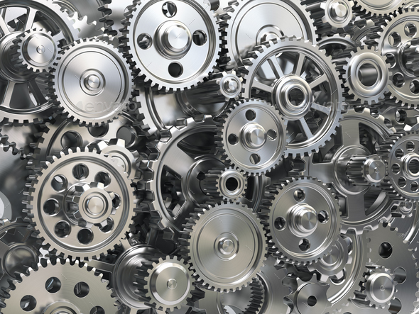 Engine gear wheels. Industrial and teamwork concept background. - Stock Photo - Images