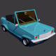 Low Poly Car || Model TE-013 - 3DOcean Item for Sale