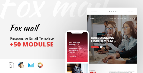 Fox mail - Responsive Email Template Minimal - Email Templates Marketing