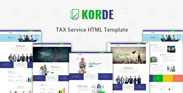 Korde - Finance, Tax, Consulting & Corporate HTML Template