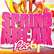 Spring Break 2018 Flyer Template - GraphicRiver Item for Sale