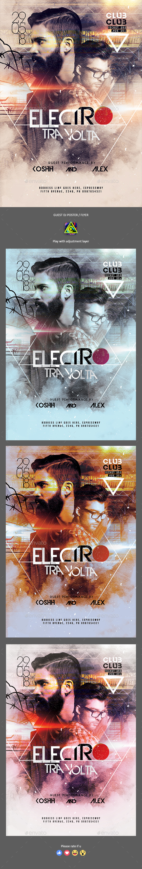 Guest Dj Party Poster / Flyer - Clubs & Parties Events