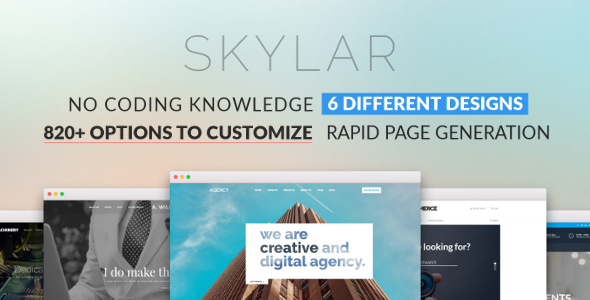Skylar - Fast, Optimized & Highly Customizable Multi-Purpose WordPress Theme