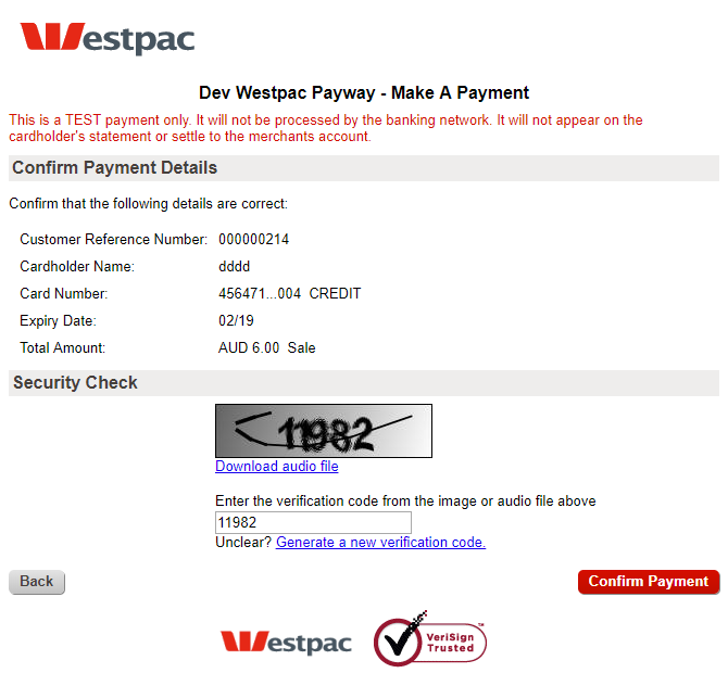Magento 2 Westpac Payway Payment Gateway
