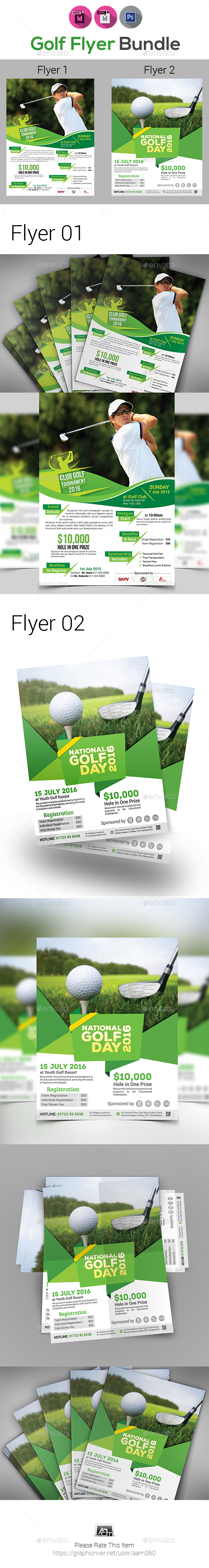 Golf Tournament Flyers Bundle - Sports Events