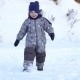 Boy of Two Years Walks in Winter. - VideoHive Item for Sale