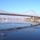 Ice Flowing on River Dnepr, in Kiev. Sunny Winter Day, - VideoHive Item for Sale
