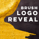 Golden Brush Logo Reveal - VideoHive Item for Sale