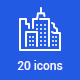 20 City life and transport icons
