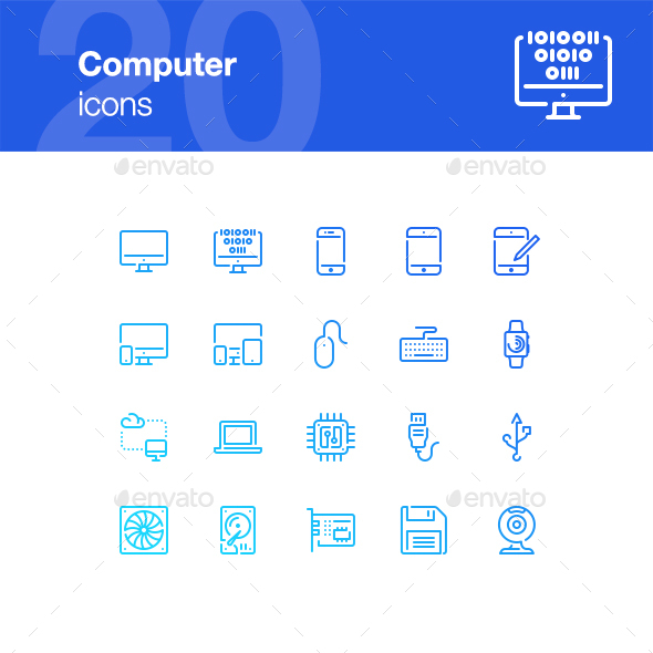 20 Computer icons - Technology Icons