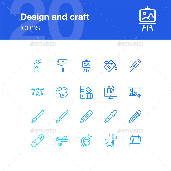 20 Design and craft icons - Miscellaneous Icons