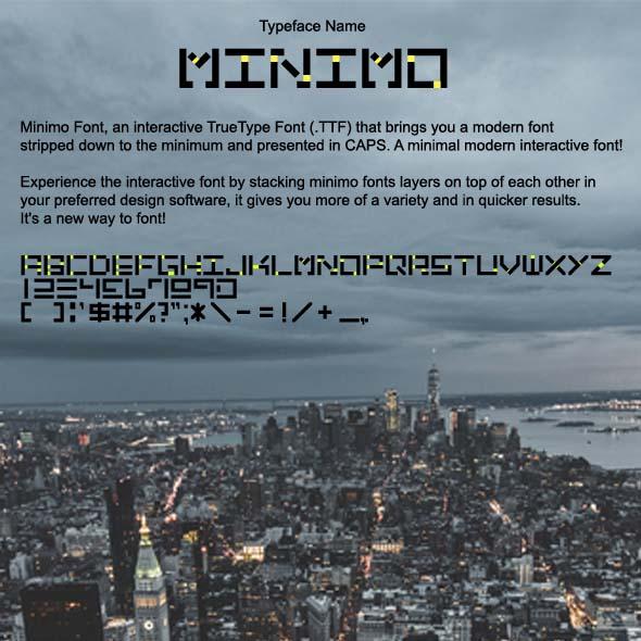 Minimo Interactive Font - Sans-Serif Fonts