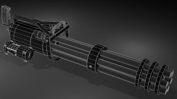 Minigun - 3DOcean Item for Sale