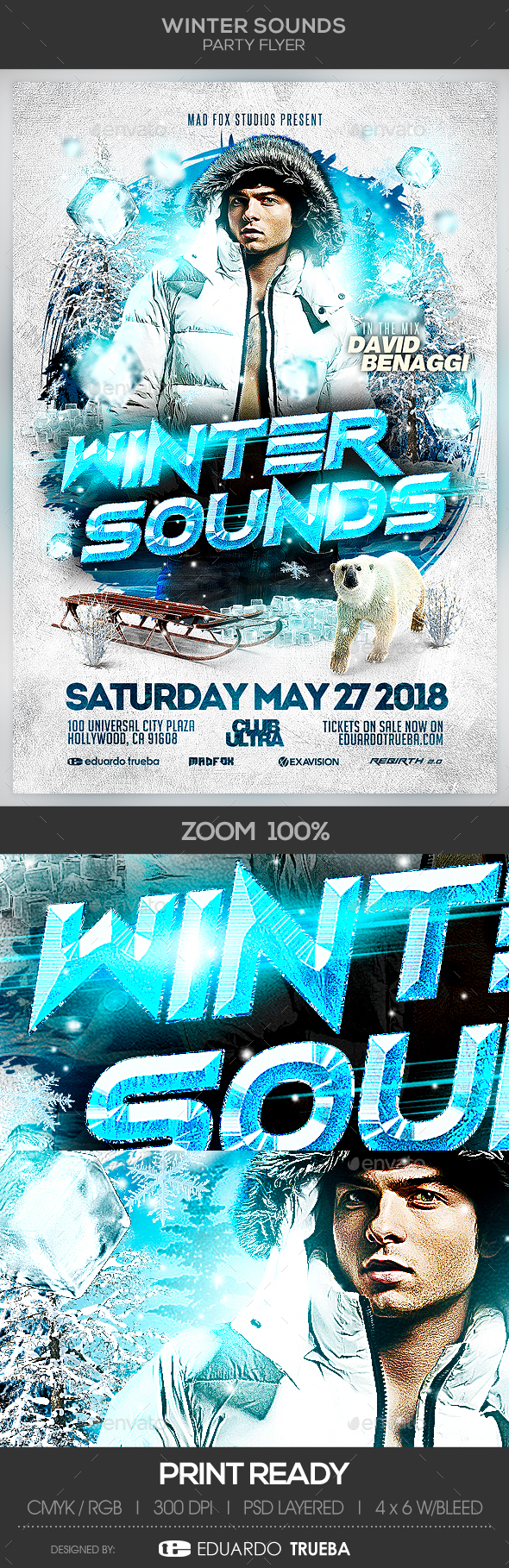 Winter Sounds Party Flyer - Events Flyers