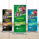 Color Run Roll Up Banner
