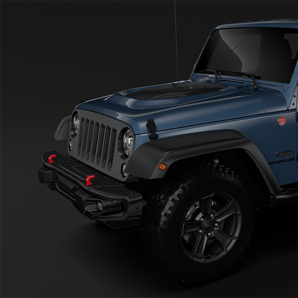 Jeep Wrangler Unlimited Rubicon Recon JK 2017 - 3DOcean Item for Sale
