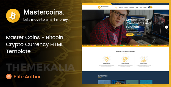 Master Coins - Bitcoin Crypto Currency HTML Template