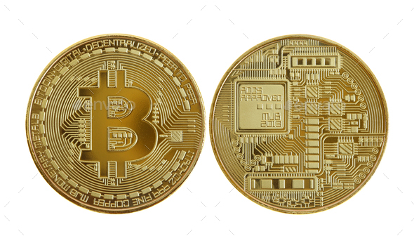 Golden bitcoins - Stock Photo - Images
