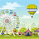 Amusement Park in Summer - GraphicRiver Item for Sale
