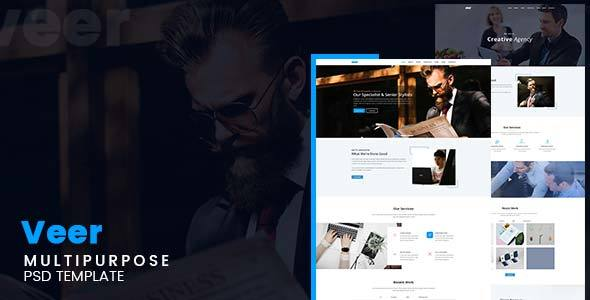 Veer – Multipurpose PSD Template Free Download | Nulled