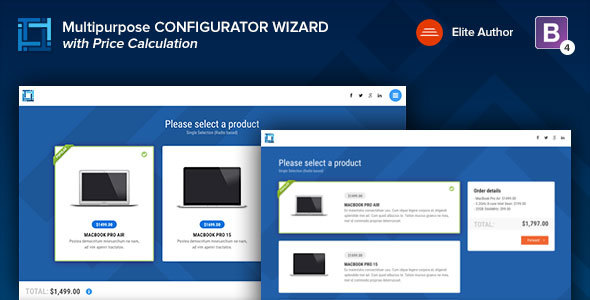 CONFIGURATOR | Multipurpose Working Configurator Wizard - Specialty Pages Site Templates