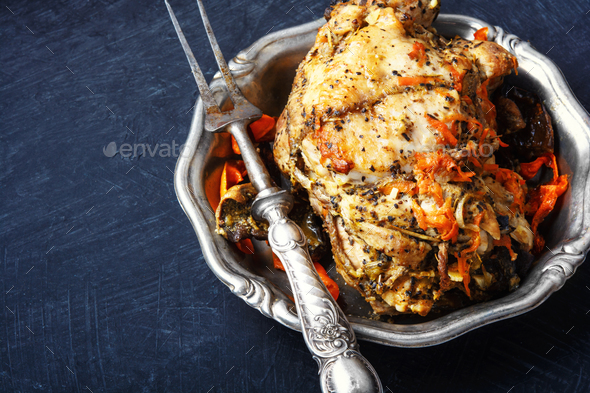 Roasted pork meat - Stock Photo - Images