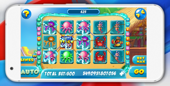 Slots Beach - html5 game, AdMob, slot machine 2018 - CodeCanyon Item for Sale