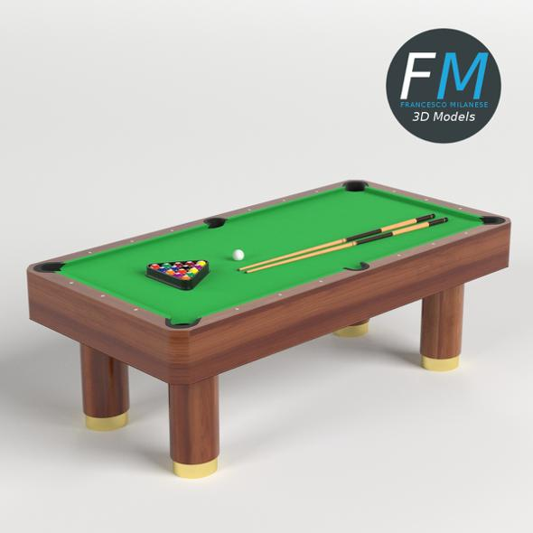 Billiard Pool Table HR - 3DOcean Item for Sale